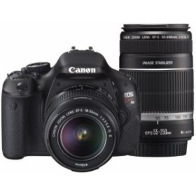 Canon デジタル一眼レフカメラ EOS Kiss X5 ダブルズームキット EF-S18-55 (中古品)