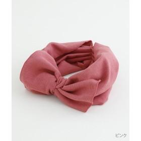 【30%OFF】 メルロー ビックリボンリブヘアターバン レディース ピンク FREE 【merlot】 【セール開催中】