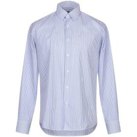《期間限定セール開催中!》TRU TRUSSARDI メンズ シャツ アジュールブルー 41 コットン 100%