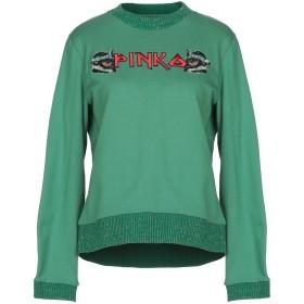 《セール開催中》PINKO レディース スウェットシャツ グリーン S ポリエステル 100%