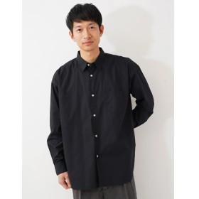 【50%OFF】 コエ ブロ ドムジビッグシルエットシャツ メンズ ブラック M 【koe】 【セール開催中】