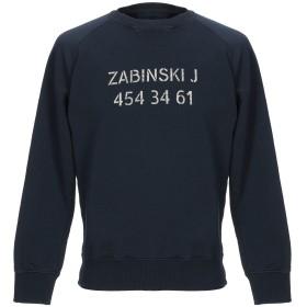 《期間限定セール開催中!》(+) PEOPLE メンズ スウェットシャツ ダークブルー M コットン 100%