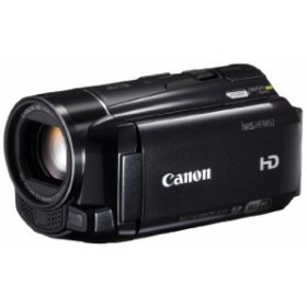 Canon デジタルビデオカメラ iVIS HF M52 ブラック 光学10倍ズーム フルフ (中古品)