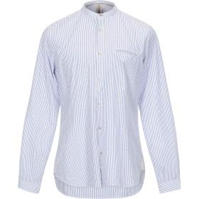 《期間限定セール開催中!》DNL メンズ シャツ ブルー 41 コットン 100%