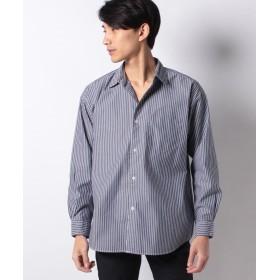 【50%OFF】 コエ 40ブロ ドビッグシルエットシャツ メンズ ストライプネイビー S 【koe】 【セール開催中】