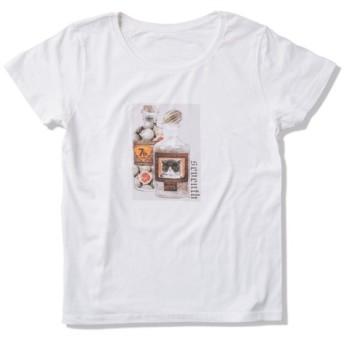 Tシャツ レディース「ボトルの中の猫」受注生産