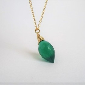 chandelier green 14Kgf/necklace