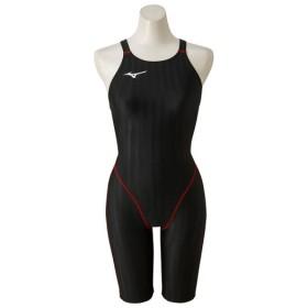 MIZUNO SHOP [ミズノ公式オンラインショップ] 競泳用ハーフスーツ[ジュニア] 96 ブラックxレッド N2MG8421