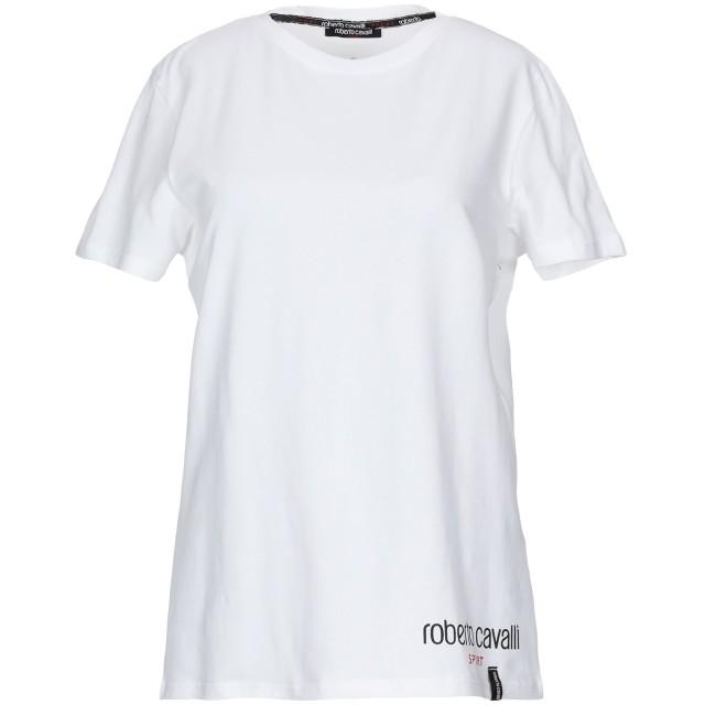 《期間限定セール開催中!》ROBERTO CAVALLI レディース T シャツ ホワイト XS コットン 95% / ポリウレタン 5%