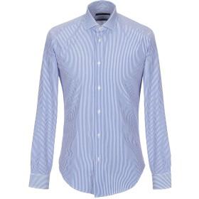 《期間限定セール開催中!》BRIAN DALES メンズ シャツ アジュールブルー 42 コットン 100%