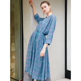 [ELENDEEK]【WEB LIMITED】DAMASK SHIRT DRESS CT