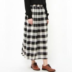 大人ナチュラル綿混ギャザースカート