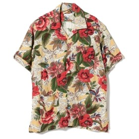 ENGINEERED GARMENTS / Camp Shirt - Hawaiian Rayon Floral メンズ カジュアルシャツ YELLOW S