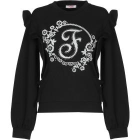 《セール開催中》BLUGIRL BLUMARINE レディース スウェットシャツ ブラック 38 コットン 95% / ポリウレタン 5%