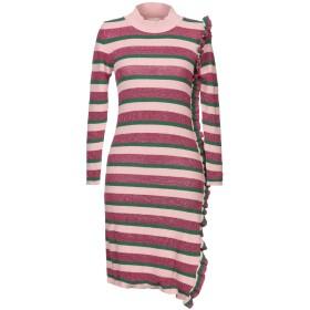 《期間限定セール開催中!》VICOLO レディース ミニワンピース&ドレス ピンク one size レーヨン 40% / ウール 25% / ナイロン 25% / 毛(アンゴラ) 5% / カシミヤ 5%