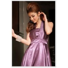 光沢感 背中見せフォルダードレス パーティードレス 大きいサイズ 小さいサイズ ミニ  ミディアム ドレス 結婚式 二次会 2次会 ワンピー