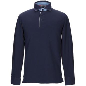 《期間限定セール開催中!》ANDREA FENZI メンズ ポロシャツ ダークブルー M コットン 95% / ポリウレタン 5%