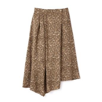 ローズバッド ROSE BUD イレギュラーヘムラインロングスカート ブラウン -【税込10,800円以上購入で送料無料】