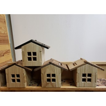 飾れる!組み立てる!木の家コースター 6枚セット(期間限定1,000円値引き中)