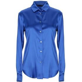 《セール開催中》BRIAN DALES レディース シャツ ブライトブルー 44 シルク 91% / ポリウレタン 9%