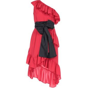 《セール開催中》AINEA レディース ミニワンピース&ドレス レッド 40 コットン 100%