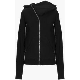 《セール開催中》DRKSHDW by RICK OWENS レディース スウェットシャツ ブラック XS コットン 100%