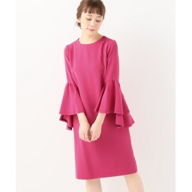 BOICE FROM BAYCREW'S Room no.8GERGETTE FLAIR-SLEEVE DRESS ピンク S