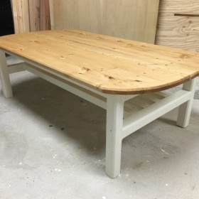 hotaru カントリー 楕円型 ローテーブル 棚付 天然木 無垢材 オーダー可
