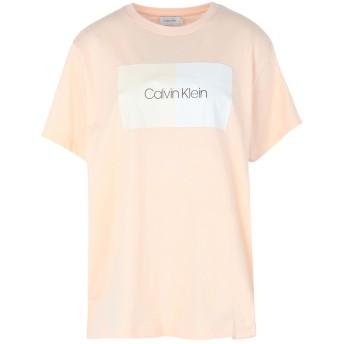 《期間限定セール開催中!》CALVIN KLEIN レディース T シャツ ライトピンク XS コットン 100%