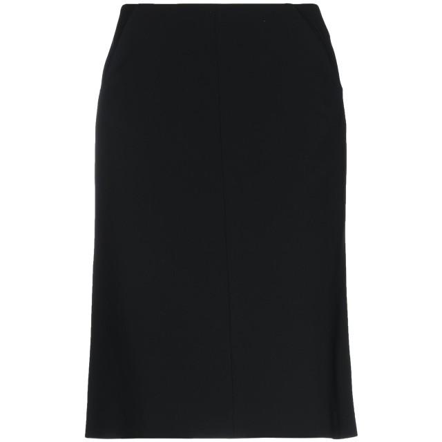 《期間限定セール開催中!》ASPESI レディース ひざ丈スカート ブラック 42 トリアセテート 63% / ポリエステル 37%