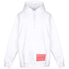 《期間限定 セール開催中》CALVIN KLEIN JEANS メンズ スウェットシャツ ホワイト S コットン 80% / ポリエステル 20%