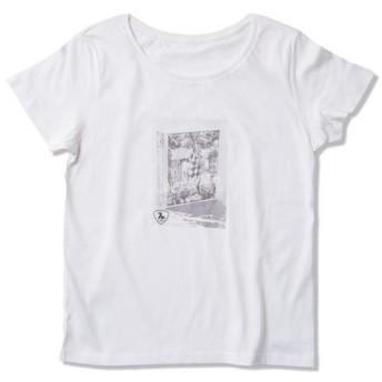 Tシャツ レディース「コラージュされたビンテージブック」受注生産