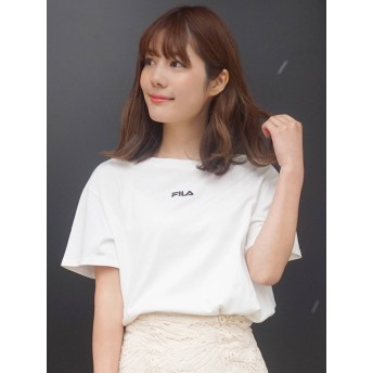 [MERCURYDUO]【FILA MERCURYDUO別注】チビ刺繍Tシャツ/ロゴT/半袖