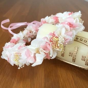 花かんむり ベビー 赤ちゃん さくらピンク