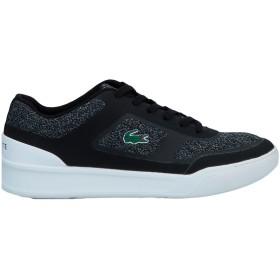 《セール開催中》LACOSTE メンズ スニーカー&テニスシューズ(ローカット) ブラック 6 紡績繊維