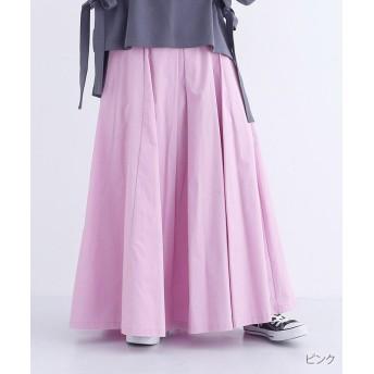 【70%OFF】 メルロー ボックスタックコットンマキシスカート レディース ピンク FREE 【merlot】 【セール開催中】