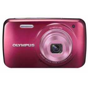 OLYMPUS デジタルカメラ VH-210 レッド 1400万画素 光学5倍ズーム DIS ハイ(中古品)