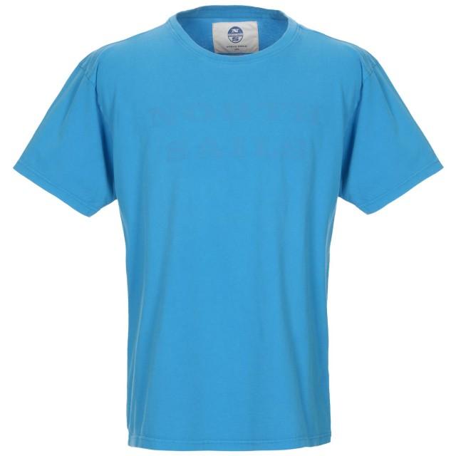 《期間限定 セール開催中》NORTH SAILS メンズ T シャツ ターコイズブルー XXL コットン 100%
