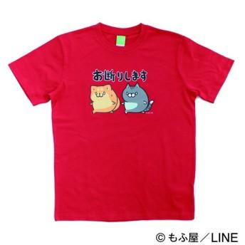 LINE CREATORS ボンレス犬とボンレス猫Tシャツ アカ