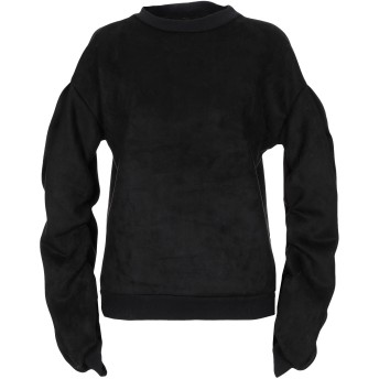 《9/20まで! 限定セール開催中》SOALLURE レディース スウェットシャツ ブラック 40 ポリエステル 91% / ポリウレタン 9%