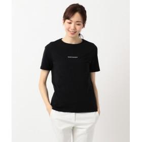 【30%OFF】 ICB(大きいサイズ) Wit ロゴ Tシャツ レディース ブラック系 L 【ICB(LARGE SIZE)】 【セール開催中】