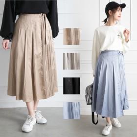 プリーツスカート - Libby & Rose サテンラッププリーツスカート