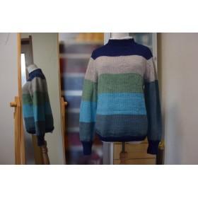 多色使いのアルパカ混セーター
