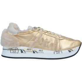 《送料無料》PREMIATA レディース スニーカー&テニスシューズ(ローカット) ゴールド 36 革 / 紡績繊維