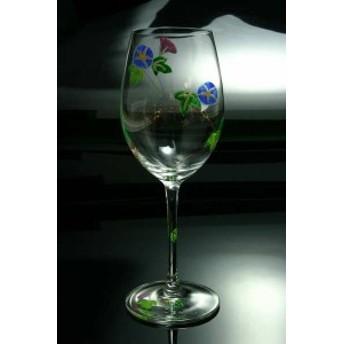 京焼き絵付け ワイングラス(大) 朝顔