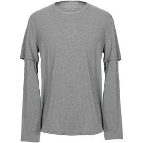《期間限定セール開催中!》VINCE. メンズ T シャツ グレー S コットン 50% / レーヨン 50%