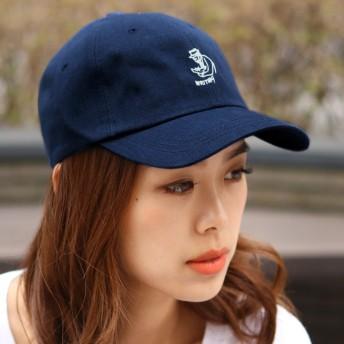 キャップ - REAL STYLE 刺繍ロゴ入りカジュアルキャップ レディース メンズ ユニセックス 男女兼用 CAP 綿 ベースボールキャップ ローキャップロゴキャップ 野球帽 ゴルフ帽子 帽子 ハット サイズ調整 アクセサリー おしゃれ 韓国ファッション 秋冬