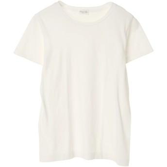 Souple Luz スープレルース soupleluz(スープレルース) CREW NECK T-SHIRT Tシャツ・カットソー,オフホワイト
