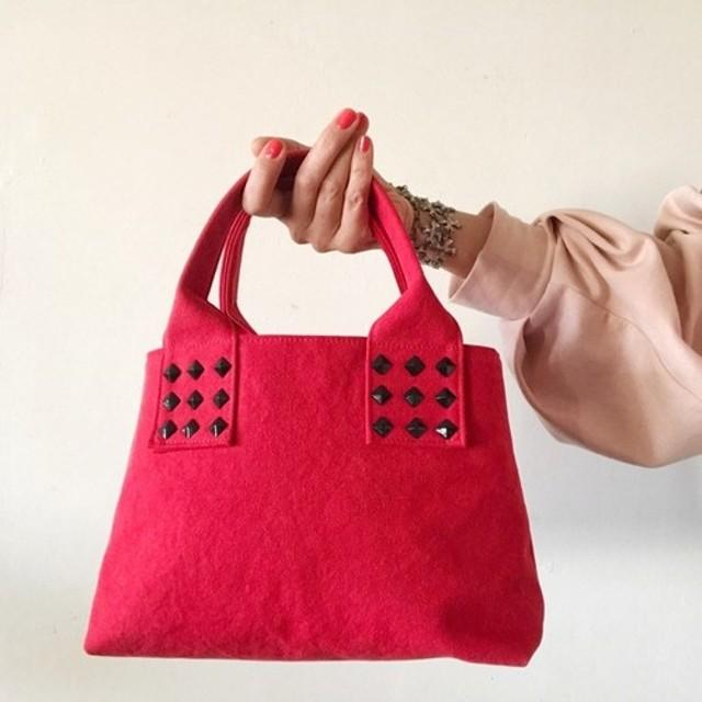 canvas tote bag mini (red)