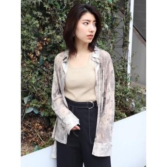 [MURUA]タイダイチュールオーバーシャツ